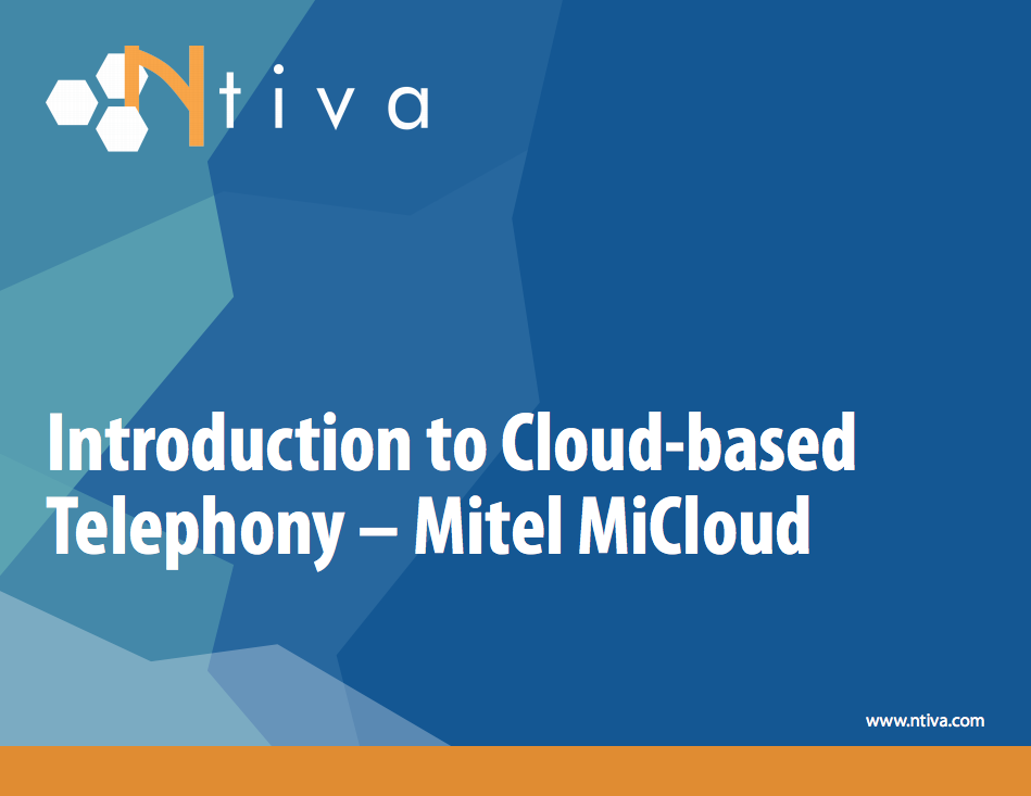 [Screenshot] EB: Introduction to Cloud-based Telephony:  Mitel MiCloud