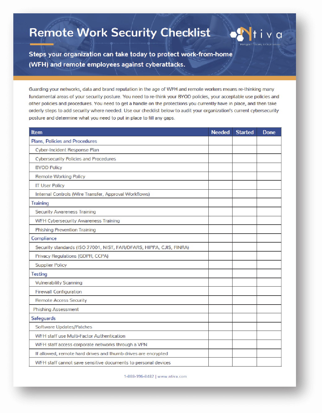 Remote Work Security Checklist
